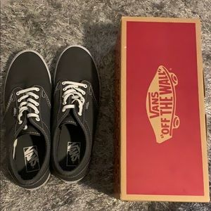 VANS Atwood Low Canvas pewter & white shoes sz 9.5